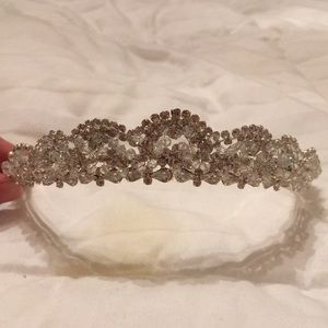 Crystal crown headpiece.